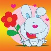 Fototapeta królik z kwiatkiem dla dzieci