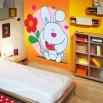 Dekoracja na ścianę z zajączkiem dla dziecka