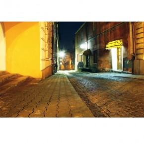 Fototapeta uliczka nocą Przemyśl