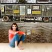 Fototapeta barakowóz na budowie