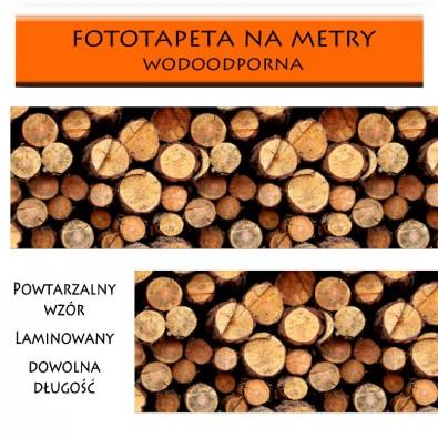 Fototapeta pniaki drewna - do kuchni między szafki