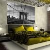 Fototapeta most Brookliński w aranżacji sypialni zielonej