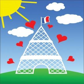 Fototapeta wieża Eiffla dla dzieci