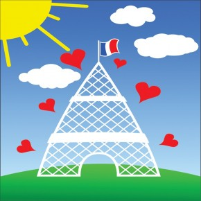 Serca z wieżą Eiffla