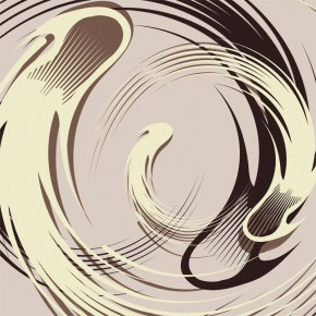 Fototapeta kremowa abstrakcja