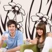 Dekoracja na ścianę w kolorze kremowym