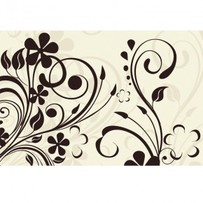 ornamet roślinny w kolorze kremowym