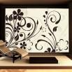 Fototapeta ornamet roślinny w kolorze kremowym