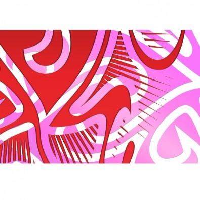 Czerwono różowa | Fototapeta abstrakcja
