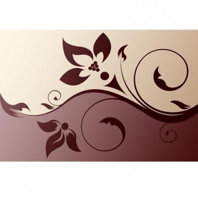 Fototapeta kremowo brązowa ornament | do salonu