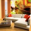 Aranżacja salonu z fototapetą Venezia