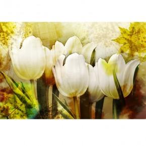 retro tulipany