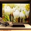 Aranżacja fototapety kwiaty vintage