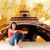 Fototapeta złoty Paryż