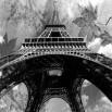 Fototapeta złoty Paryż Vintage w kolrze czarno białym