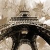 Fototapeta złoty Paryż Vintage w odcieniach ciepłej sepii