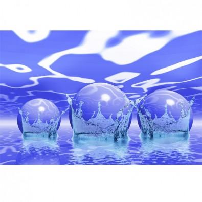Fototapeta niebieskie kule w wodzie