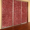 Dekoracj na szafę czerwona cegła