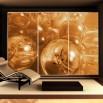 Fototapeta bursztynowe kule aranżacja na szafie