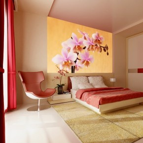 Fototapeta łososiowa orchidea