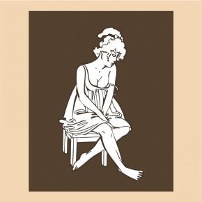 Tapeta Kobieta na krześle