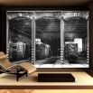 Aranżacja fototapety hangar optycznie powiększającej wnętrze