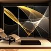 Fototapeta złota abstrakcja do sypialni