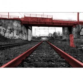 Fototapeta tory kolejowe