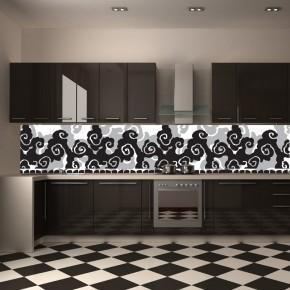 Fototapeta ornament zmywalna do kuchni