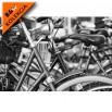 Fototapeta ramy rowerowe czarno biała