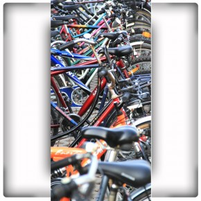 Fototapeta Rowerowy plac | Fototapeta rowery