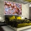 Fototapeta sad owocowy na ścianie w sypialni