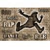 Fototapeta Rap, Hip Hop w sepii