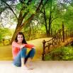 Fototapeta na ścianę most w parku