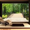 Fototapeta drewniany mostek ozdoba szafy