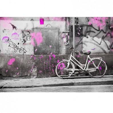 Fototapeta rower przy ścianie