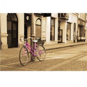 pink bicykl
