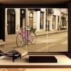 Fototapeta pink bicykl - na szafę
