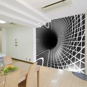 Fototapeta spiralny tunel