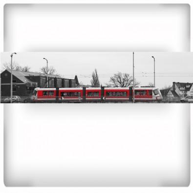 Fototapeta czerwony tramwaj