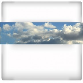 Chmury na niebie | fototapeta panoramiczna