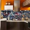 Fototapeta rowerowa panorama do kuchni między szafki