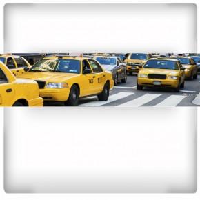 żółte taxi - panoramiczna