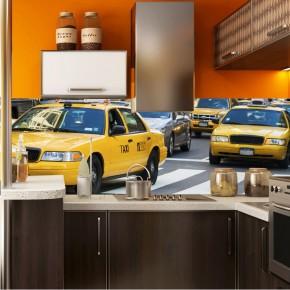 Fototapeta żółte taxi - panoramiczna