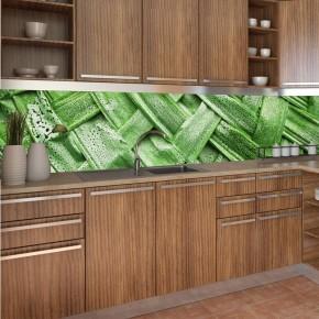 Fototapeta bambus - do kuchni między szafki