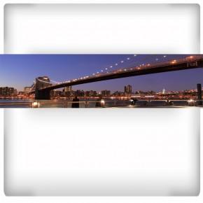 długi most nocą