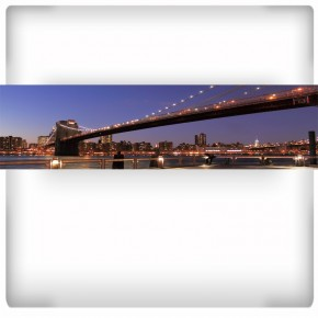 Fototapeta długi most nocą