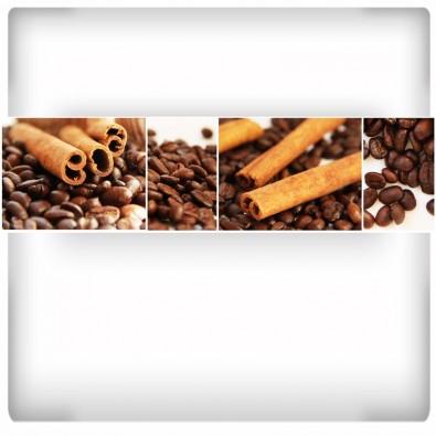 Fototapeta wanilia z kawowymi ziarenkami