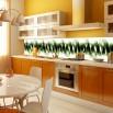 Fototapeta kuchenna sprężyna między szafki