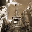 Fototapeta wieża Eiffla w kolorze sepii